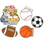 Lot de 12 Carnets Forme Ballons Sport 37 Pages