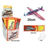 Lot de 12 Avion Styro 20 Cm