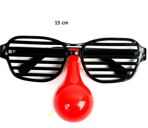 Lot de 12 Lunette Grillage + Faux Nez 15 Cm