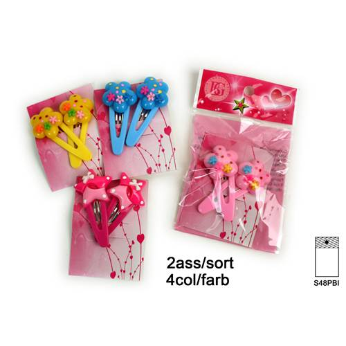 Lot de 12 Paires De Barrettes Long. 4.50 Cm