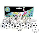 Lot de 12 Porte-Clés Ballon De Foot 3 Cm
