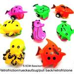 Lot de 12 Poisson Rétro friction 5,5 Cm