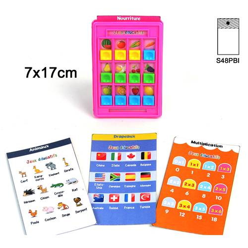 Lot de 12 Jeu Educatif 7X17 Cm 4 Cartes
