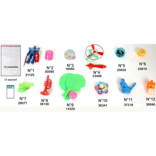 Lot de 72 Jouets Assortiment Série N°2