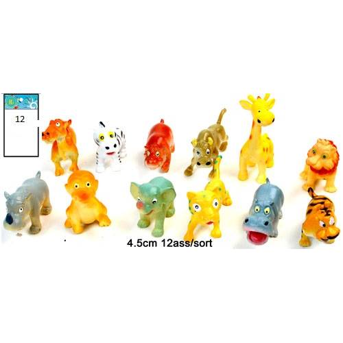 Lot de 12 Animaux De Zoo Humoristique 4.5 Cm