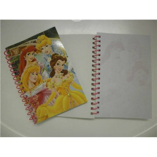 Lot de 12 Carnets Spirale 100 Pages Princesse Disney 15 Cm 11 Cm