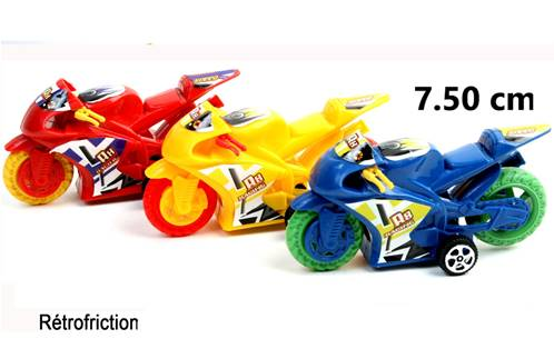 Lot de 12 Motos 7,50 Cm