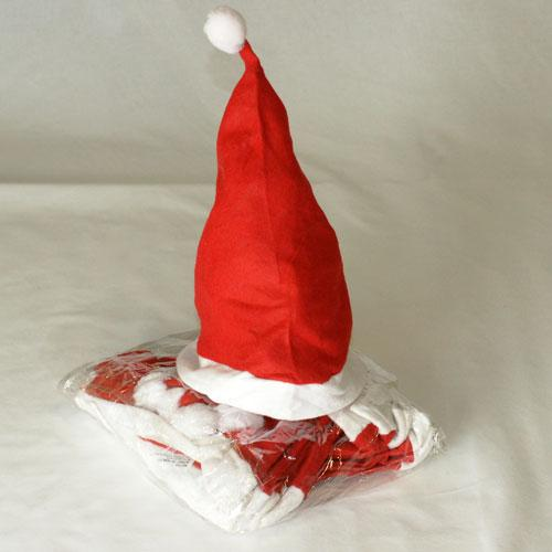 Lot de 12 Bonnets Père Noel