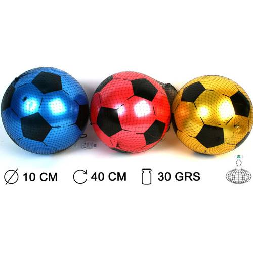 Lot de 12 Ballons De Foot Pvc Nacre Ø 10 Cm Livre A Plat En Filet