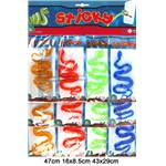 Lot de 12 Sticky 12/40 Cm Serpent 3C