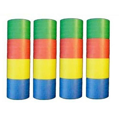 Lot 4 Rouleaux 4 Couleurs De 20 Serpentins De 4 M