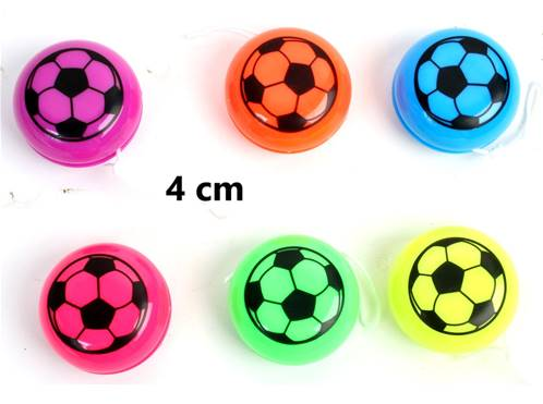 Lot de 12 Yoyo Foot 4 Cm