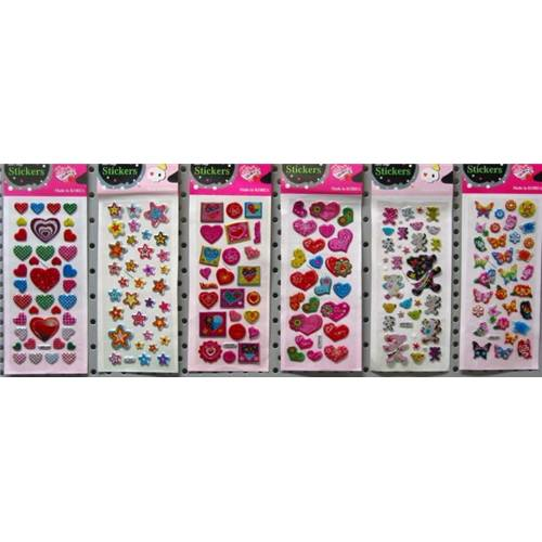 Lot de 20 Cartes De 30 Stickers Ass