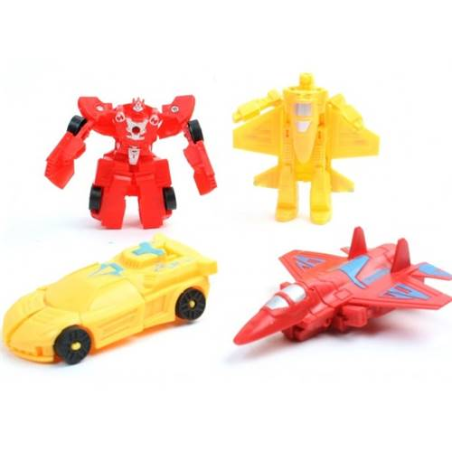 Lot de 12 Robots 10 Cm Transformable